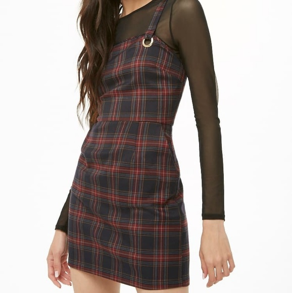 Forever 21 Dresses & Skirts - 🚫SOLD🚫 Plaid Mini Overall Dress